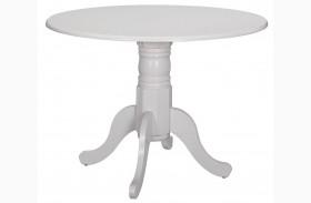 Allston White Round Dining Table