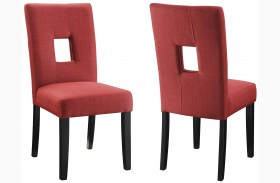 Andenne Red Dining Chair Set of 2