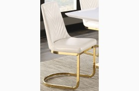 Cornelia High Gloss White Side Chair Set of 2
