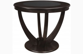 Stapleton Cappuccino Round Counter Height Table