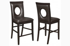 Stapleton Cappuccino Counter Height Chair Set of 2