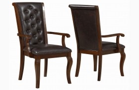 Williamsburg Roasted Chestnut Dining Arm Chair Set of 2