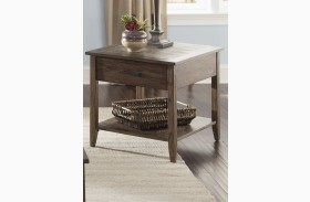 Brookstone Weathered Oak End Table