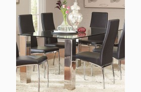 Bellini Chrome Dining Table