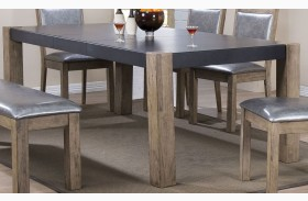 Ludolf Dark Concrete and Antique Natural Dining Table