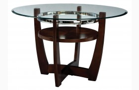 Apollo Rich Merlot Round Dining Table