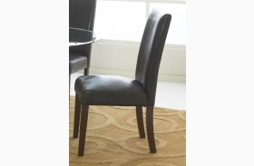 Apollo Dark Brown Side Chair Set of 2