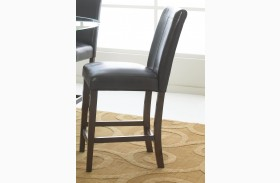 Apollo Dark Brown Counter Height Barstool Set of 2