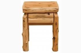 Traditional Cedar One Drawer Nightstand