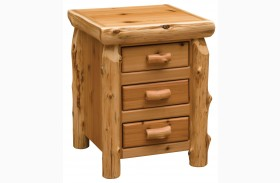 Traditional Cedar Three Drawer Nightstand