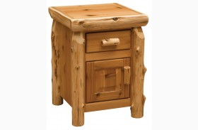 Traditional Cedar Enclosed Nightstand