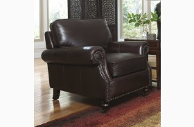 Stockton Dark Chocolate Leather Chair