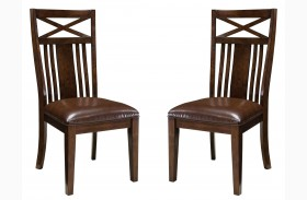 Sonoma Warm Medium Oak Side Chair Set of 2
