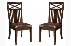 Sonoma Warm Medium Oak Side Chair Set of 2