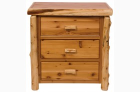 Traditional Cedar 3 Drawer Chest