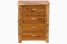Traditional Cedar 4 Drawer Chest