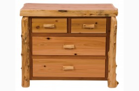 Traditional Cedar 4 Drawer Low Boy
