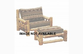Hickory Log Frame Ottoman Chair-and-a-Half