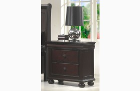 Hyde Park Seal Brown 2 Drawer Nightstand