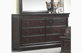 Hyde Park Seal Brown 6 Drawer Dresser