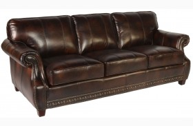 Anna Toberlone Leather Sofa
