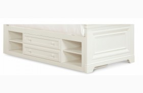 Classics 4.0 Smartstuff Saddle Summer White Storage Unit With Side Rail Panel