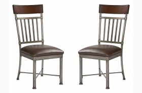 Hudson Warm Cherry Side Chaire Set of 2