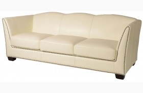 Marilyn White Leather Sofa