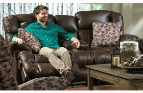 Cedar Creek Sable/Duck Camo Lay Flat Reclining Console Loveseat