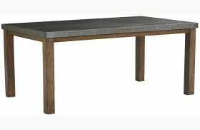 Riverton Dusty Weathered Rectangular Leg Dining Table