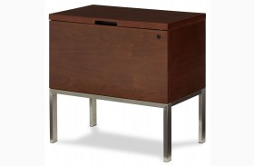 Incept Dark Almond Lateral File Cabinet