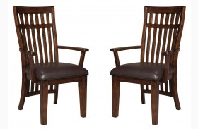 Artisan Loft Warm Medium Oak Arm Chair Set of 2