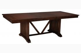 Artisan Loft Warm Medium Oak Rectangular Extendable Dining Table