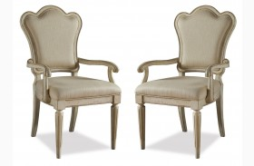 Provenance Upholstered Back Arm Chair Set of 2