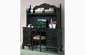 Cinderella Dark Cherry Writing Desk with Hutch