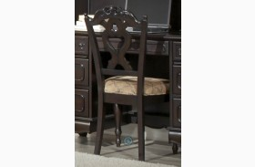 Cinderella Dark Cherry Side Chair Set of 2