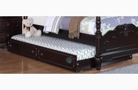 Cinderella Dark Cherry Twin Trundle for Canopy Bed