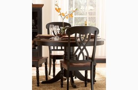Ohana Round Black Dining Table