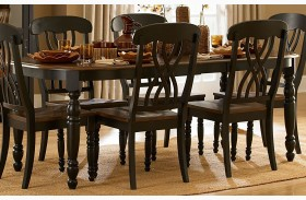 Ohana Black Rectangular Dining Table