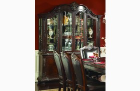 Palace Rich Brown Buffet & Hutch