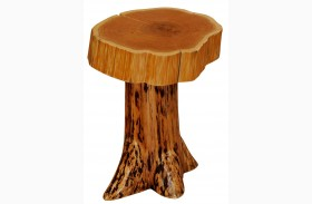Cedar Slab Top Stump End Table