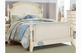 Inglewood Queen White Poster Bed