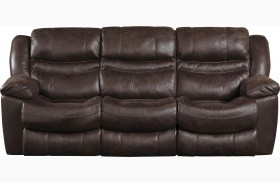 Valiant Coffee Power Reclining Sofa