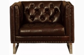 Bordeaux Cranberry Leather Chair