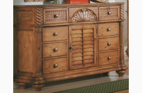 Palm Court Island Pine Triple Dresser