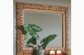 Palm Court Island Pine Mirror