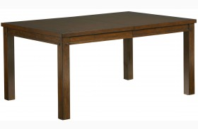 Cameron Golden Tobacco Brown Extendable Leg Dining Table