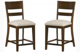 Cameron Golden Tobacco Brown Stool Set of 2