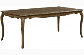 Monterey Caramel Brown Pine Extendable Rectangular Leg Dining Table