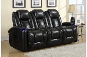 Matrix Black Power Reclining Sofa